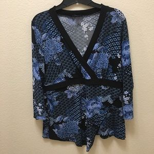 Women's AGB Large 3/4 Sleeve Blouse - Layered